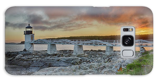 Marshall Point Lighthouse At Sunset, Maine, Usa Galaxy Case