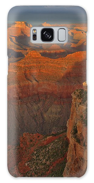 Mather Point Sunset Galaxy Case by Stephen  Vecchiotti