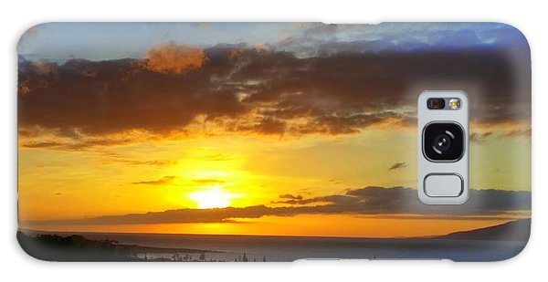 Maui Sunset At The Plantation House Galaxy Case