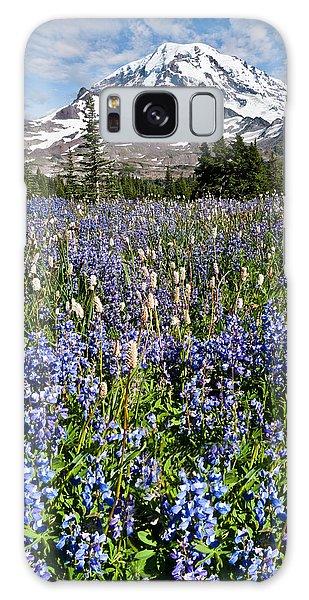 Meadow Of Lupine Near Mount Rainier Galaxy Case