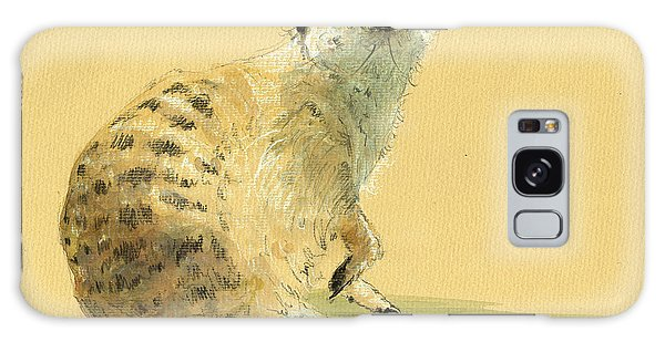 Meerkat Or Suricate Painting Galaxy Case