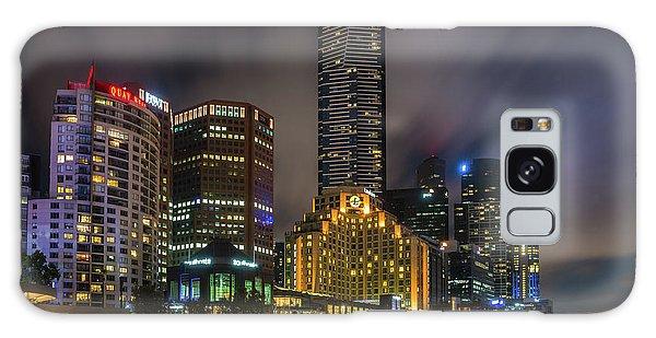 Melbourne City Skyline Over Yarra River  Galaxy Case