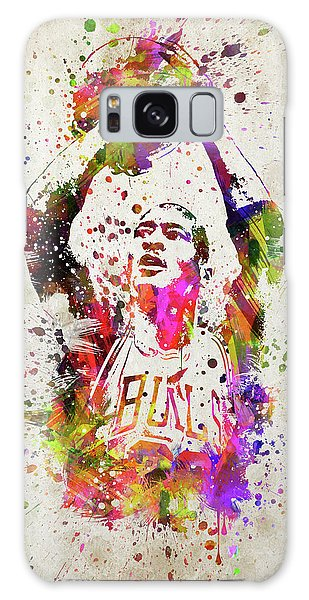 Michael Jordan In Color Galaxy Case
