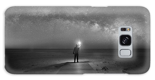 Board Walk Galaxy Case - Midnight Explorer At Assateague Island by Michael Ver Sprill
