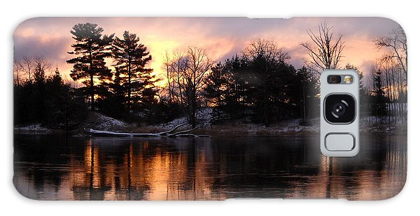 Mississippi River Dawn Light Galaxy Case