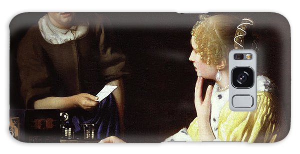 Jan Vermeer Galaxy Case - Mistress And Maid by Jan Vermeer