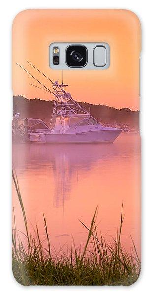 Powerboat Galaxy Case - Misty Morning Osterville Cape Cod by Matt Suess