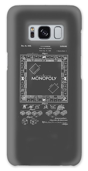 Blueprint Galaxy Case - Monopoly Original Patent Art Drawing T-shirt by Edward Fielding
