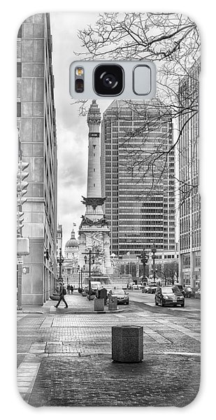 Galaxy Case featuring the photograph Monument Circle by Howard Salmon