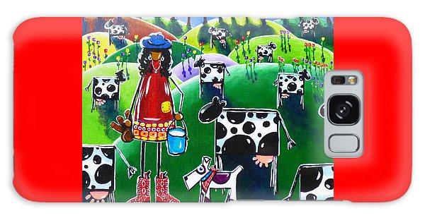Moo Cow Farm Galaxy Case by Jackie Carpenter