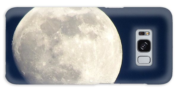 Moon In Blue Galaxy Case