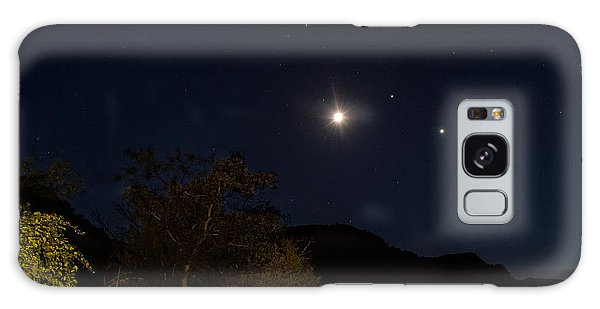 Galaxy Case featuring the photograph Moon Venus Jupiter by Melany Sarafis