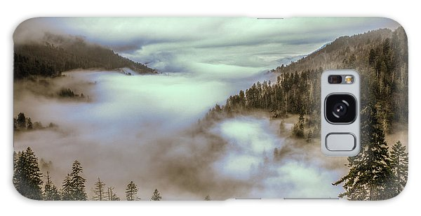 Morning Mountains II Galaxy Case by Rebecca Hiatt