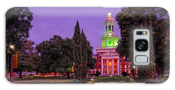 Morning Twilight Shot Of Pat Neff Hall From Founders Mall At Baylor University - Waco Central Texas Galaxy Case
