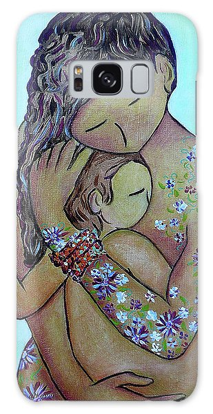 Motherhood Flowers All Over Galaxy Case
