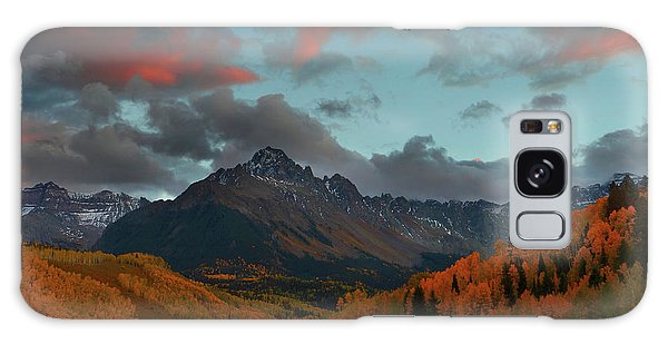 Mount Sneffels Sunset During Autumn In Colorado Galaxy Case