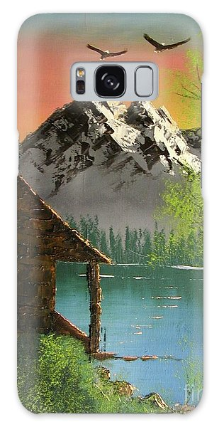Mountain Lake Cabin W Eagles Galaxy Case