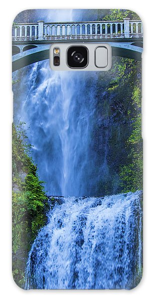 Galaxy Case featuring the photograph Multnomah Falls Bridge by Jonny D