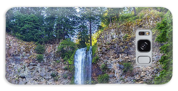 Galaxy Case featuring the photograph Multnomah Falls Cliff by Jonny D