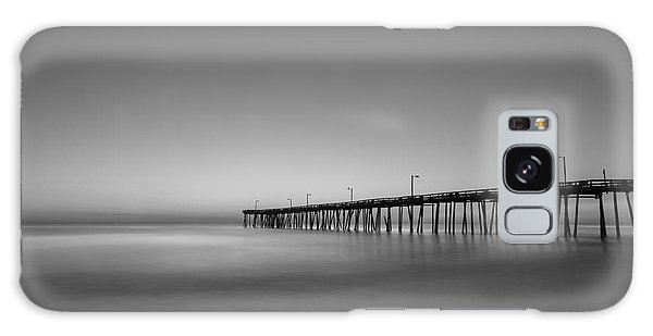 Nags Head Fishing Pier Sunrise Galaxy Case