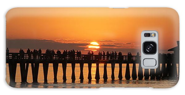 Naples Pier At Sunset Galaxy Case
