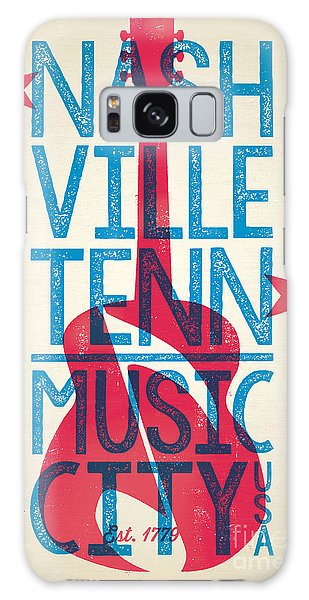 Nashville Tennessee Poster Galaxy Case