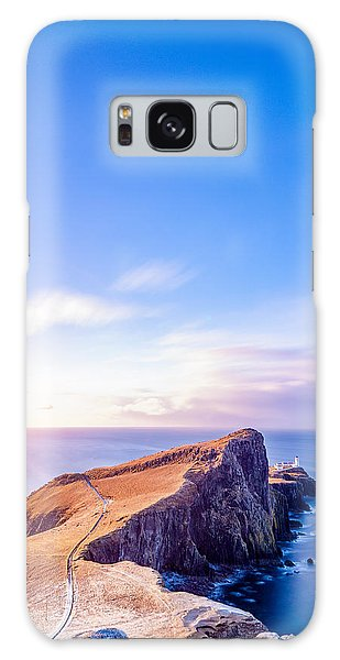 Neist Point Lighthouse At Dawn Galaxy Case