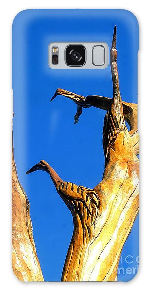 New Orleans Bird Tree Sculpture In Louisiana Galaxy Case by Michael Hoard