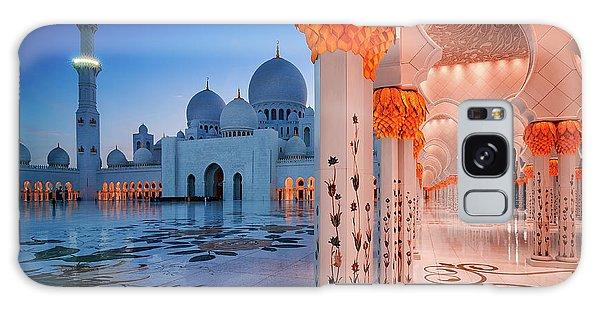 Night View At Sheikh Zayed Grand Mosque, Abu Dhabi, United Arab Emirates Galaxy Case