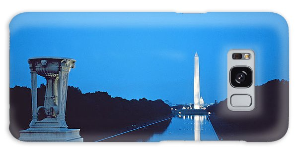 Night View Of The Washington Monument Across The National Mall Galaxy Case