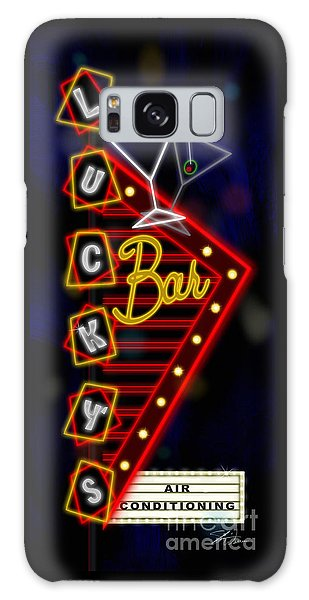 Nightclub Sign Luckys Bar Galaxy Case