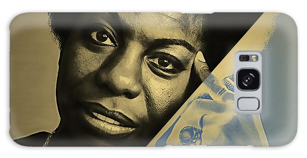 Folk Singer Galaxy Case - Nina Simone Collection by Marvin Blaine