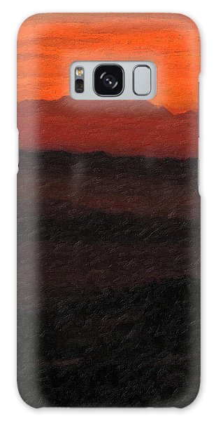 Pop Art Galaxy Case - Not Quite Rothko - Blood Red Skies by Serge Averbukh