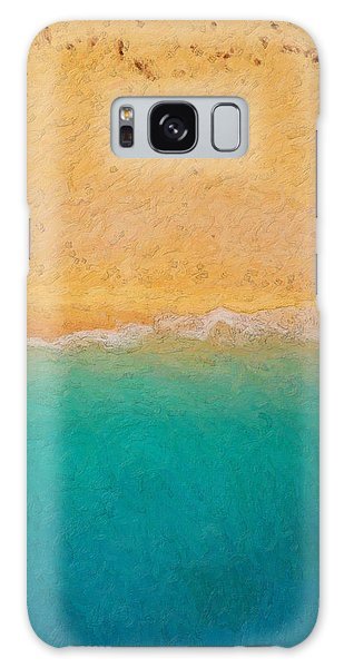 Pop Art Galaxy Case - Not Quite Rothko - Surf And Sand by Serge Averbukh