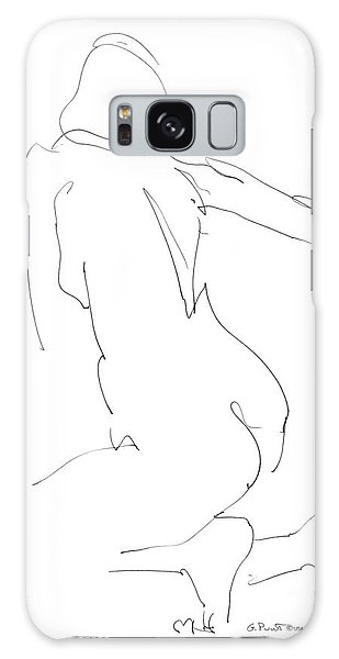 Nude Female Drawings 8 Galaxy Case