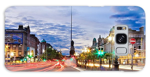 Galaxy Case featuring the photograph O' Connell Bridge At Night - Dublin by Barry O Carroll
