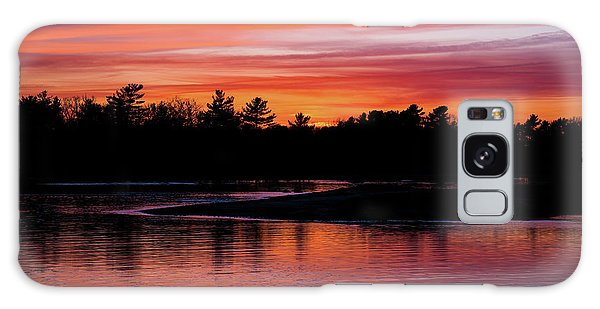 Odiorne Point Sunset Galaxy Case