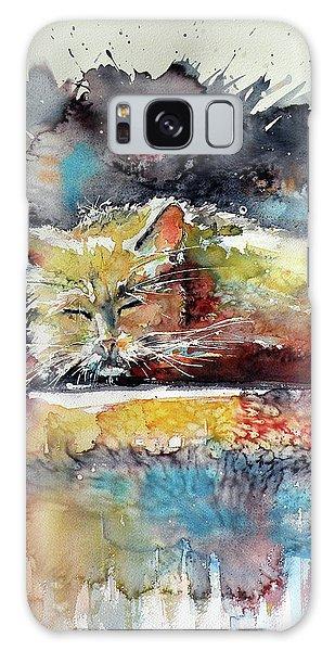 Old Cat Resting Galaxy Case by Kovacs Anna Brigitta