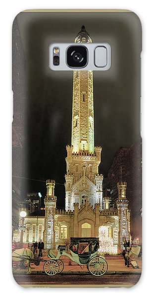 Old Chicago Water Tower Galaxy Case