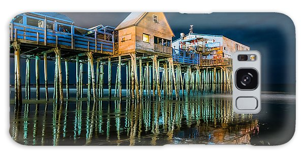 Old Orchard Dock Night Reflection Galaxy Case