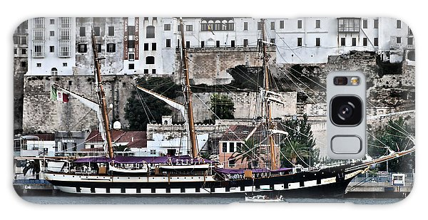 Old Port Mahon And Italian Sail Training Vessel Palinuro Hdr Galaxy Case