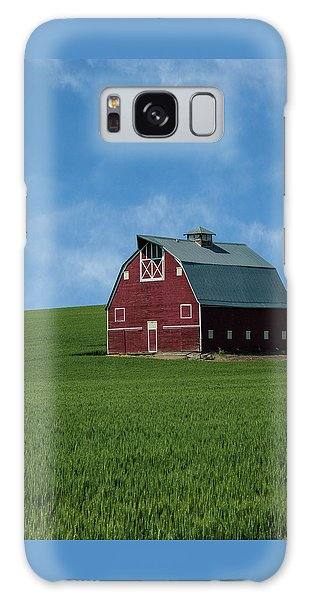 Old Red Barn In The Palouse Galaxy Case by James Hammond