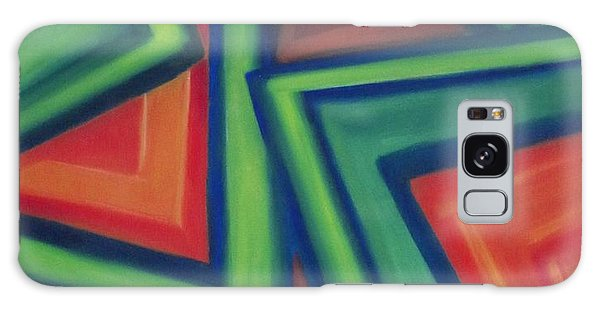 Orange And Green Galaxy Case by Patricia Cleasby