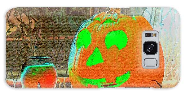 Orange Halloween Decoration Galaxy Case