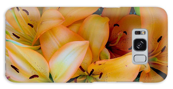 Orange Lilies Galaxy Case by Mark Barclay