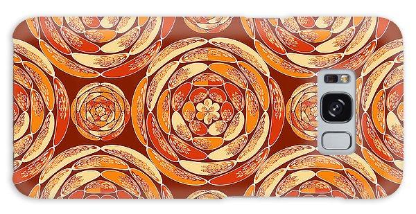 Orange Pattern Galaxy Case by Gaspar Avila