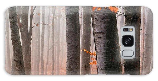 Orange Wood Galaxy Case