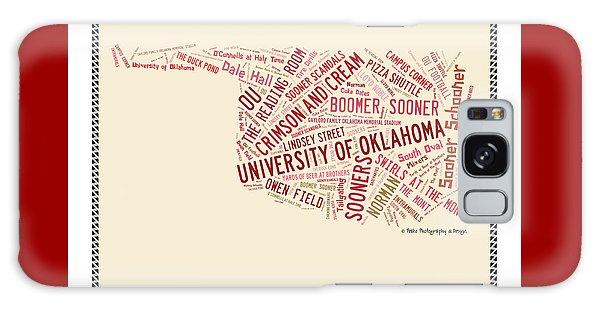 Ou Word Art University Of Oklahoma Galaxy Case