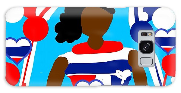 The Art Of Gandy Galaxy Case - Our Flag Of Freedom 2 by Joan Ellen Gandy of The Art Of Gandy