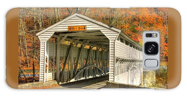 Pa Country Roads - Knox Covered Bridge Over Valley Creek No. 2a - Valley Forge Park Chester County Galaxy Case